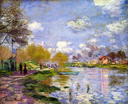アルジャントゥイユの川岸