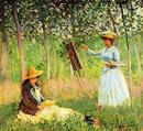 読書するシュザンヌと絵を描くブランシュ