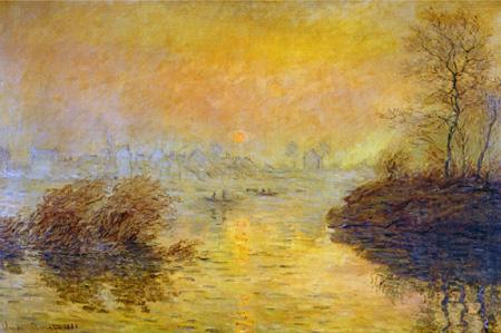 セーヌに沈む日