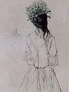 鶴織り帽子
