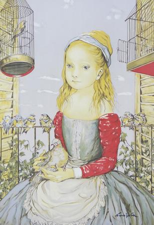鳩を抱く少女